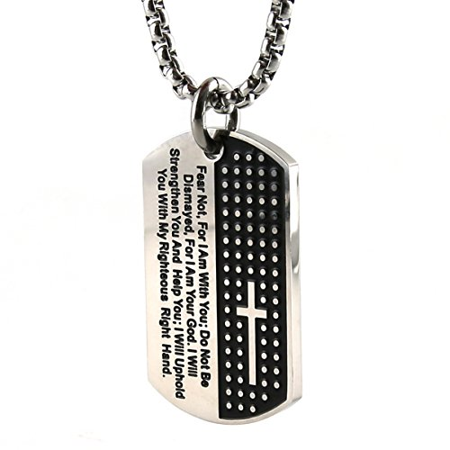 Hzman silver black carved cross lords prayer dog tag necklace hzman silver black carved cross lords prayer dog tag necklace wallcrossesandmore aloadofball