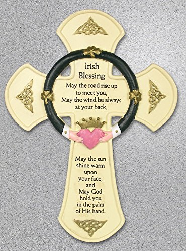 Irish Wall Cross - Traditional Irish Blessing Saying Printed on a ...