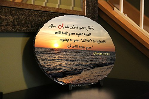 Religious Home Decor For I The Lord Your God Will Hold Your Right Hand Saying To You Don T Be Afraid I Will Help You Isaiah 41 13 Web Stone Plaques