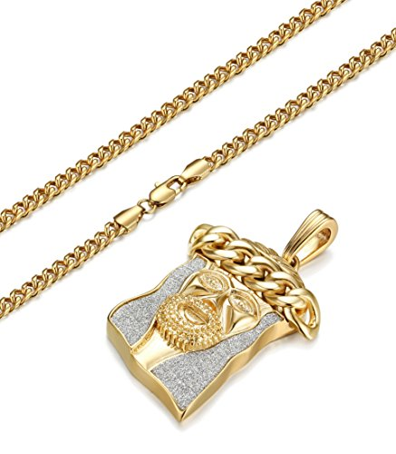 Jstyle men necklace for women curb chain necklaces
